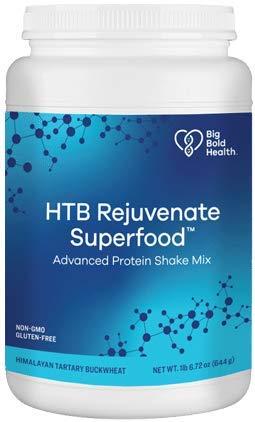 Big Bold Health HTB Rejuvenate™ Superfood Advanced Protein Shake Mix | French Vanilla Flavor, 14-Servings | Superfood Protein Powder | Plant-Based Protein Shake | Immune Rejuvenation Protein Powder