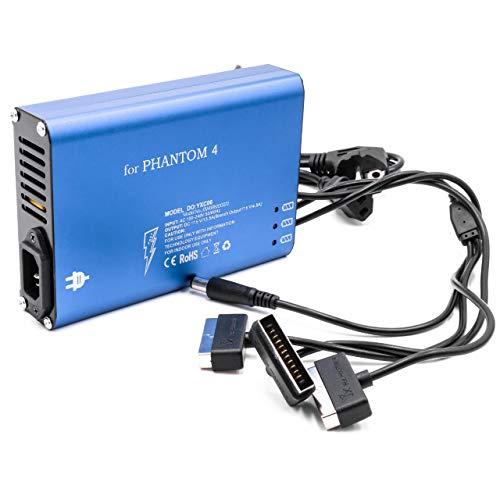 vhbw Caricabatterie (3-in-1 Multi) Caricatore Multiplo Compatibile con DJI Phantom 4 batterie di droni, multicotteri, quadricotteri, Telecomando