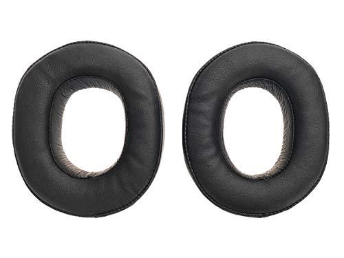 2 Hochwertige Ersatz Ohrpolster für Sony MDR HW700DS Kopfhörer aus Echtleder, Schwarz