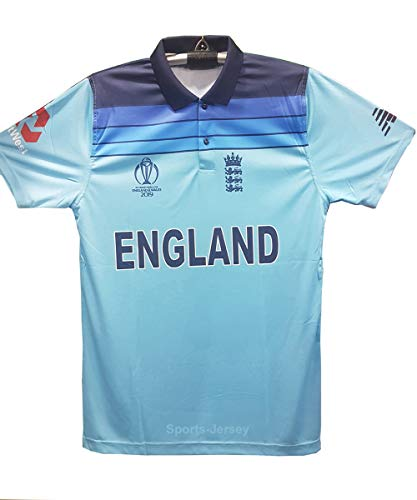 England Cricket Jersey- ICC World Cup 2019 (Blue, M (Chest 18 inch))
