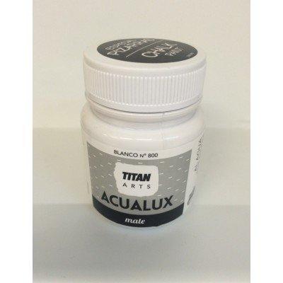 Titan Acualux Mate - Pintura efecto pizarra, color blanco 100 ml