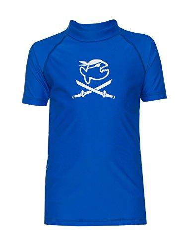 iQ-Company Kinder UV 300 Shirt Kids Jolly Fish, Dark-Blue, Gr. 128/134
