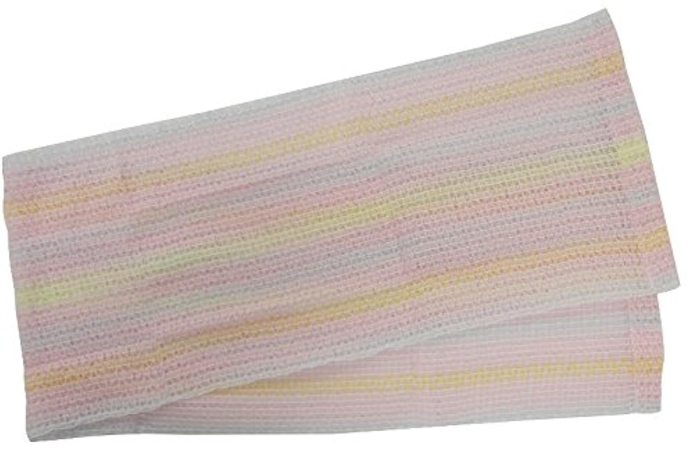 着飾る想起熱帯の小久保 『もっちり泡でお肌を包み、やさしい洗い心地』 もこもこあわわボディタオル 20×100cm 3285
