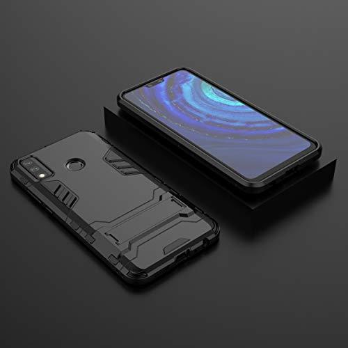 ZHIWEI Bolso de un teléfono portátil para Samsung Galaxy J7 Funda telefónica, Funda Delgada con PC Kickstand PC y TPU Transportable Funda con Titular (Color : Red)