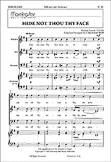 Hide Not Thou Thy Face - Opt. Keyboard - Choral Sheet Music