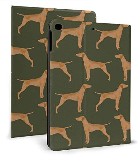 Green Vizsla Dog PU Leather Smart Case Auto Sleep/Wake Feature for iPad Mini 4/5 7.9'& iPad Air 1/2 9.7' Case