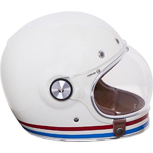 Bell Bell Powersports 600003-081 - Casco de motocicleta, color Blanco (Stripes Pearl Weiß), talla Medium