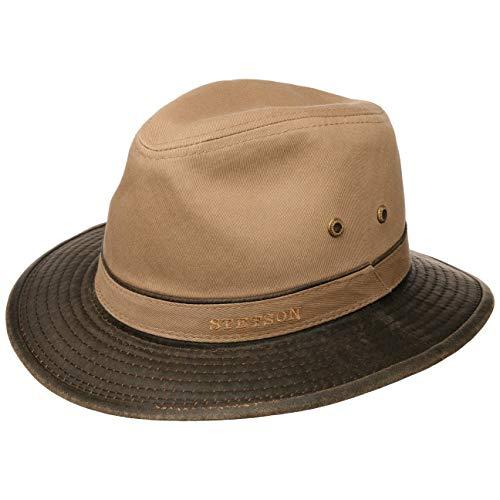 Stetson Sombrero de Algodón Anti UV Hombre - Sol Verano Primavera/Verano - L (58-59 cm)...