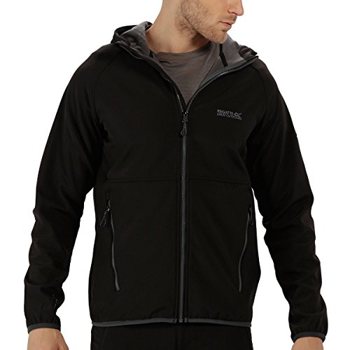 Regatta Arec II Herren-Softshelljacke S Black/Seal Grey