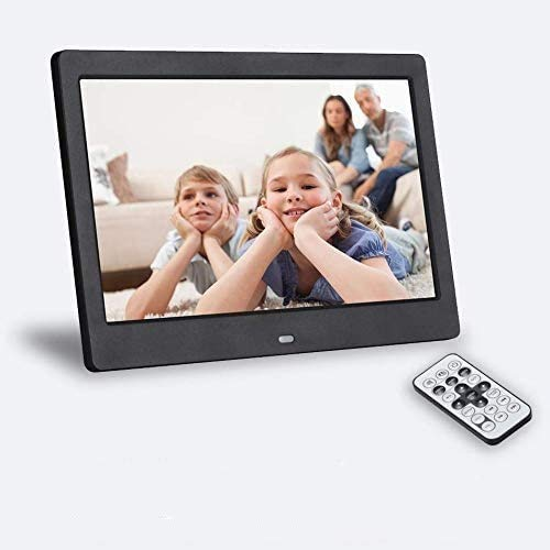 SeeKool Digitaler Bilderrahmen 10 Zoll 1024x768, Display Foto/Musik/Video-Player Kalender Wecker automatischer EIN/aus Timer, mit Fernbedienung Unterstützung USB-und SD-Karte