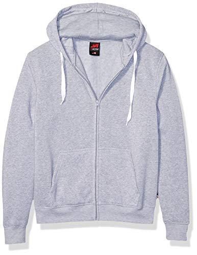 Southpole Herren Active Basic Hooded Full Zip Fleece in Premium Fabric Pullover, grau meliert, X-Large