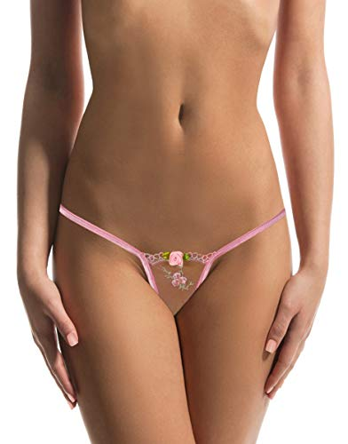 Sohimary 428 Damen Mini String Tanga XS S M 32 34 36 38 Spitze rosa