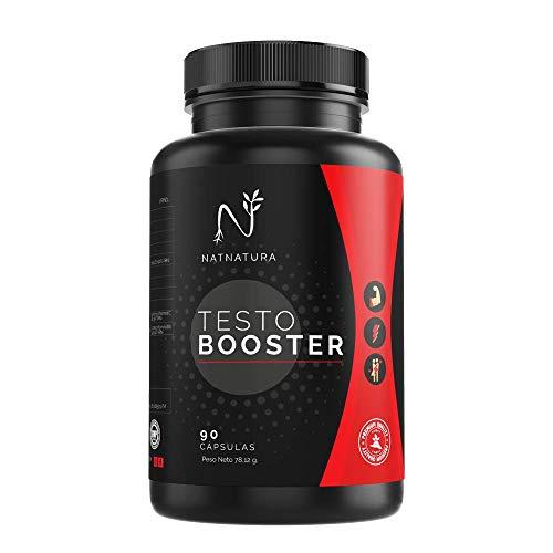 Testosterona. Aumento rendimiento masculino y deportivo. 90 cápsulas vegetales. Potenciador de testosterona natural Vegano y sin gluten.