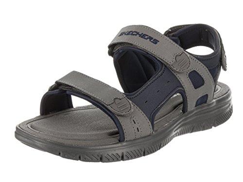 Skechers 51874-NVCC Flex Advantage S - Upwell Herren Sandale aus Lederimitat, Groesse 48 1/2, blau/grau