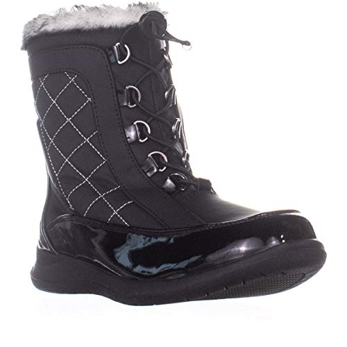 Sporto Womens Jenny Closed Toe Ankle Cold Weather Boots, Black, Size 7.5