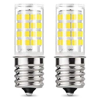 E17 LED Microwave Oven Appliance Whirlpool Bulb,8206232A 40W Equivalent Light Bulbs,Daylight White  6000K 2-Pack