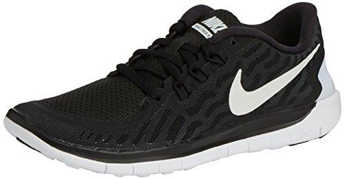 Nike Free 5.0 Jungen Laufschuhe, Schwarz (001 BLACK/WHITE-DARK GREY-CL GREY), 36.5 EU