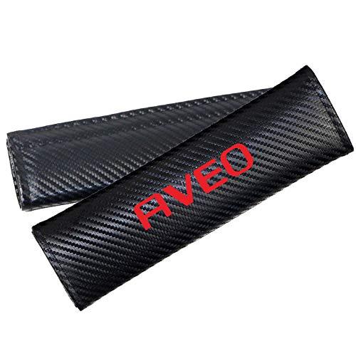 AIPOLE Coche Almohadillas CinturóN De Seguridad para Aveo, CarbóN Fibra Protector De CinturóN Suave CóModa Protectores De Hombro Cobertores Auto Accesorios 2 Pcs