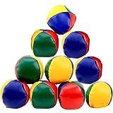 Liuer 12PCS Balles de Jonglage pour débutants Balles de Jonglerie faciles et durables Jeux Enfants pour Les Enfants et Les Adultes(Couleur Arc-en-Ciel)