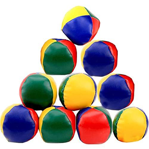 Liuer Jonglierbälle, 12PCS Jonglierball Set Lustige Pädagogische Jonglierbälle zum Ballspielen Spielbälle Interaktives Spielzeug Jonglier-Set für Jungen Mädchen und Erwachsene