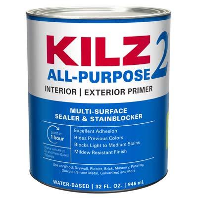 KILZ White Water-Based Primer and Sealer For All Surfaces 1 qt.