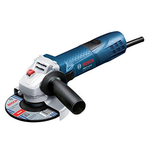 Bosch Professional GWS 7-115 E haakse slijper, 115 mm schijf-Ø, 720 W, extra handgreep, beschermkap, dubbele gatsleutel