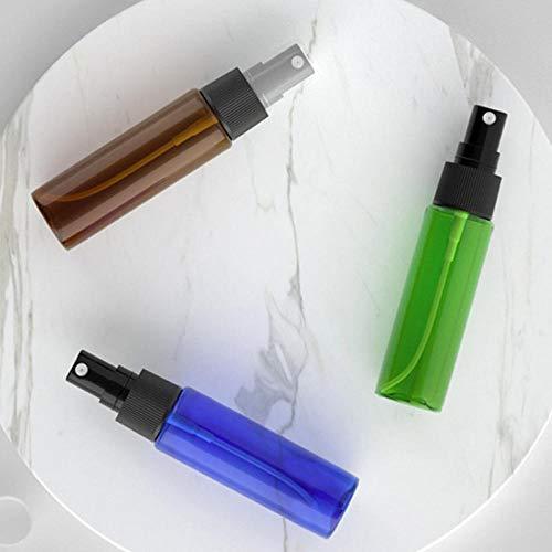Bouteille de pulvérisation d'alcool en brume super fine Nettoyage de bouteille de pulvérisation utilisé pour les voyages les soins de beauté le nettoyage domestique-30ML transparent avec buse blanche