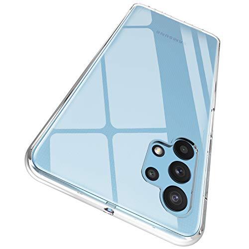 "ORNARTO Durchsichtig Kompatibel mit Samsung A32 5G Hülle, Transparent TPU Flexible Silikon Handyhülle Schutzhülle Hülle für Samsung Galaxy A32 5G (2020) 6,5""-Klar"