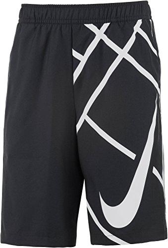 NIKE pantalón Court 20.32 cm GFX Pantalones Cortos de Deporte para niño Negro Negro Talla:Extra-Small