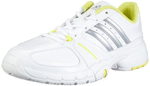 adidas Performance Barricade Team 2 W G64799, Damen Tennisschuhe, Weiß (RUNNING WHITE FTW/METALLIC SILVER/RUN YELLOW-SMC), EU 39 1/3  (UK 6)