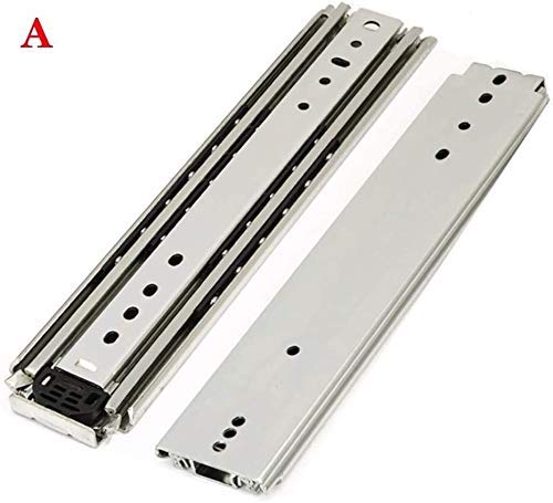 Cabinet Drawer Slides Drawer Runner Heavy-Duty Load 260kg Ball Bearing 3-Section Track (Size : A 34in=85cm)