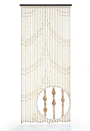 Kobolo Türvorhang Holzperlenvorhang Samara 31 Stränge 90x200