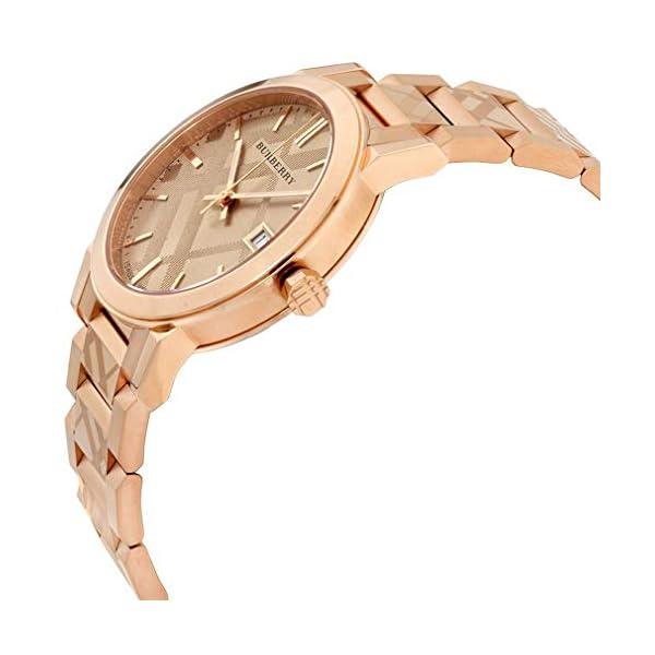Swiss Rare Engraved Rose Gold Date Dial 34mm Women Wrist Watch The City BU9146