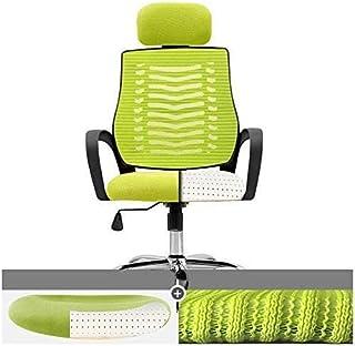 Chaise de jeu MHIBAX Chaisepivotante - Appuie-tête de levage réglable Coussin en Latex Dossier confortable Chaise d'ord...