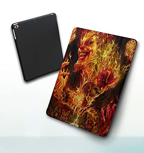 Funda para iPad 9,7 Pulgadas, 2018/2017 Modelo, 6ª / 5ª generación,Payaso Loco Smart Leather Stand Cover with Auto Wake/Sleep