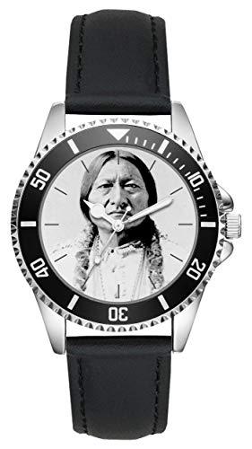 Geschenk für Sitting Bull Häuptling Indianer Uhr L-20201