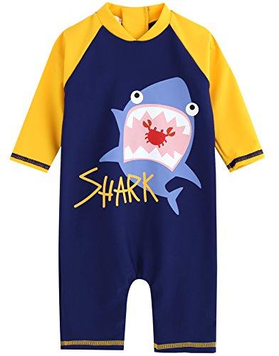 Vaenait bébé 0–24 m Enfant Garçon OnePiece Rashguard Swimwear Bain Mode, Tanning Bear Blue