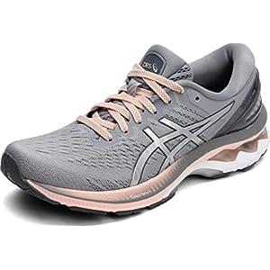 ASICS Women's Gel-Kayano 27 Running Shoes, 8, Sheet Rock/Pure Silver