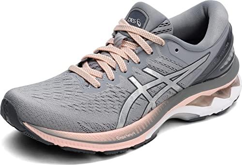 ASICS Women's Gel-Kayano 27 Running Shoes, 9, Sheet Rock/Pure Silver