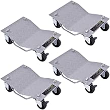 XtremepowerUS 4-piece Wheel Car Dolly Repair Slide Vehicle Car Moving Skates Dolly (Pack of 4) Rated at 6000lbs.