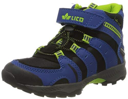 Lico Chaussures de randonnée pour garçons. - Bleu - Bleu/noir/citron, 35 EU