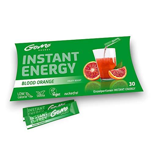 GoMo ENERGY® - Bebida energética sin azúcar | Aumenta la resistencia y la concentración | Mayor capacidad física y productividad mental | Vegano e hipocalórico | Bloodd naranja 30 porciones
