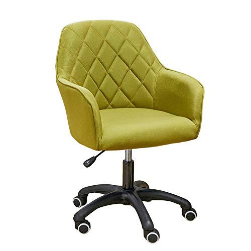 Comif- Home-Office-Stuhl, mit Stoff gefüllter Drehstuhl, höhenverstellbare 360 ° -Drehung mit PU-Rolle, Student Desk Chair für das Schlafzimmerstudium