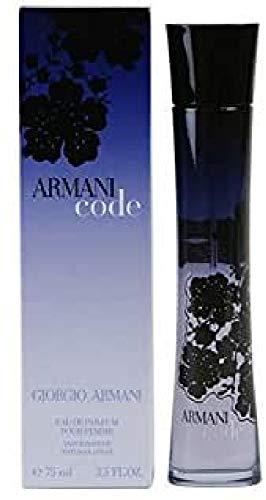 Giorgio Armani Code Eau DE Parfum POUR Femme 75ML VAPORIZADOR Unisex Adulto, Negro, Estándar