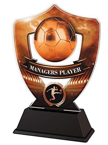 Trophy Monster - Placa grabada de Bronce para Jugadores de fútbol Americano, diseño de trofeos a Granel, para Clubes y Ligas, Hecha de acrílico Impreso (3 tamaños)
