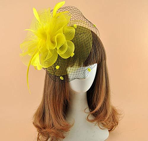 Accesorios para el cabello Tocado de novia europeo y americano velo retro...
