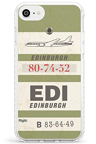 Hülle Warehouse Edinburgh Vintage-Gepäck-Umbau Impact Hülle kompatibel mit iPhone 7/8 / SE TPU Schutz Light Phone Tasche mit Reise Fernweh Stadt Land Reise