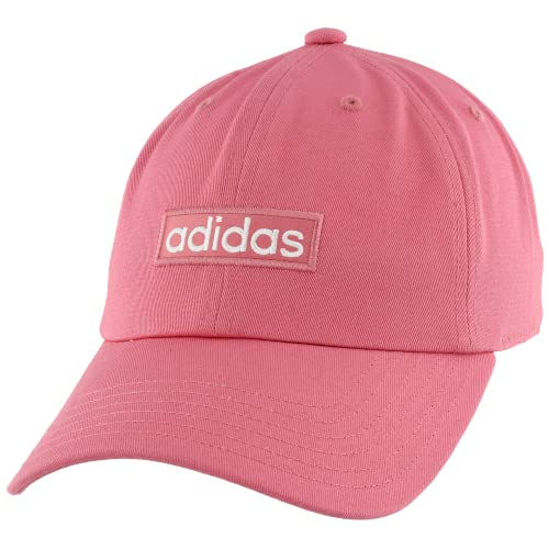 adidas Women's Contender Relaxed Adjustable Cap, Hazy Rose/White, One Size