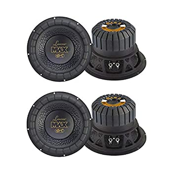 LANZAR 8 Inch 600W 4 Ohm 4 Layer Voice Coil Car Audio Subwoofer  4 Pack  | MAX8