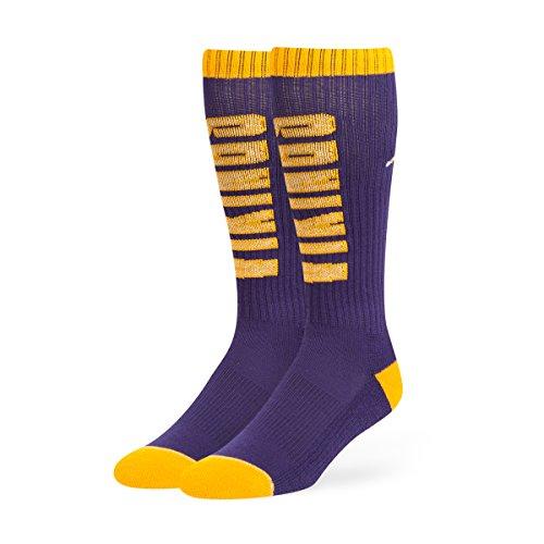 NFL Minnesota Vikings Men's Warner Sport OTC Socks, Medium, Purple